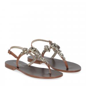 De Capri a Paris sandalo infradito gioiello pelle