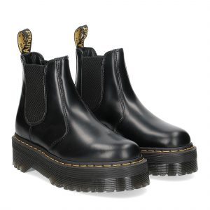 Dr. Martens Quad black polished smooth