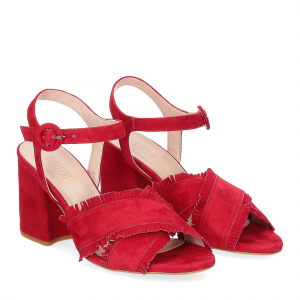 Il Laccio sandalo 1606 camoscio rosso