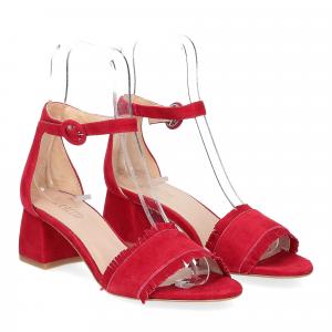 Il Laccio sandalo 519 camoscio rosso