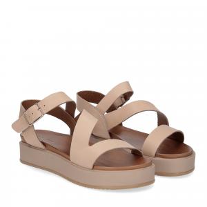 Il Laccio sandalo pelle taupe