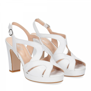 Il Laccio sandalo in pelle bianca