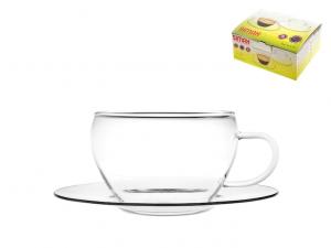 Confezione 4 tazze caffè in vetro