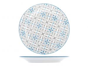 Piatto piano cm21 Ischia in stoneware