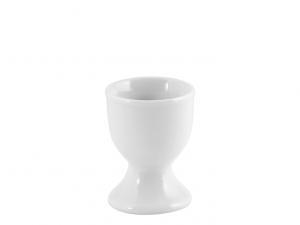 Porta uovo bicchierino in porcellana bianca