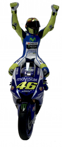 Valentino Rossi Movistar Yamaha Winner Silverstone 2015 Limited Edition 1008 Pcs Scala 1/12