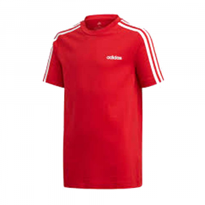 Adidas T Shirt 3 Stripes Red Junior