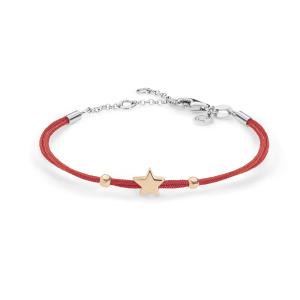 Bracciale Stella Argento Rosso Comete