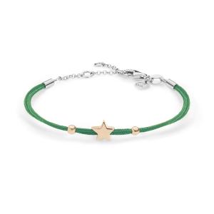 Bracciale Stella Argento Verde Comete