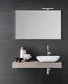 Top colore effetto cemento  H 12,5  L.121 P.45  con lavabo in ceramica in appoggio