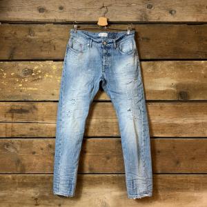 Jeans P.M.D.S Barret Stracciato Blu Chiaro