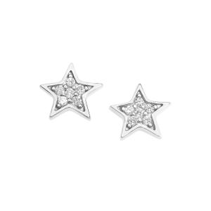 Orecchini Stella Argento Comete