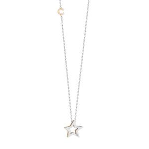 Girocollo in Oro bianco e rosè 750‰. Diamanti