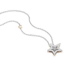 Girocollo in Oro bianco e rosè 750‰. Diamanti Comete -2
