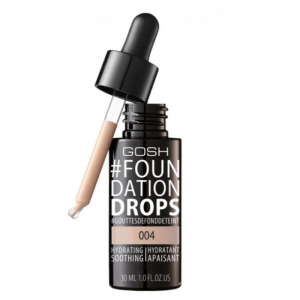Gosh Foundation Drops Hydrating Spf10 004 Natural 30ml