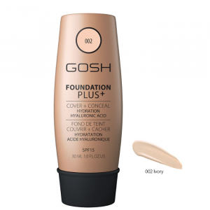 Gosh Foundation Plus + Cover & Conceal Spf15 002 Ivory 30ml