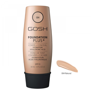 Gosh Foundation Plus + Cover & Conceal Spf15 004 Natural 30ml