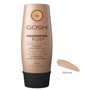 Gosh Foundation Plus + Cover & Conceal Spf15 006 Honey 30ml