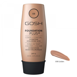 Gosh Foundation Plus + Cover & Conceal Spf15 008 Golden 30ml