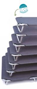 Brandina per cani fissa in alluminio GRIGIA  varie misure LEOPET