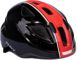 PUKY CASCO DA BICICLETTA PH 8 TAGLIA MEDIUM NERO/ROSSA 9596