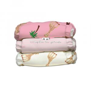 Kit 3 pannolini lavabili Charlie Banana Sophie la Giraffa Pink