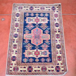 Tappeto Persiano Blu Rosso Beige 93*65 Cm