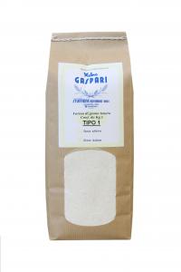 Farina artigianale Tipo 1 di grano tenero italiano, Formato da 1 KG