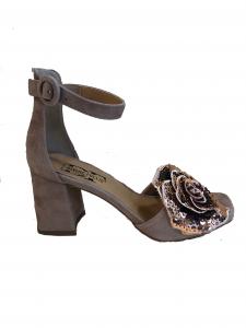 Sandalo fiore paillettes