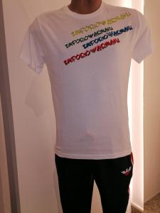 T-shirt bianca logata Uomo Emporio Armani