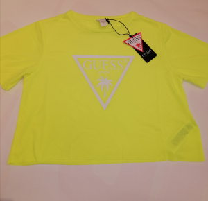 T-shirt giallo fluo donna Guess