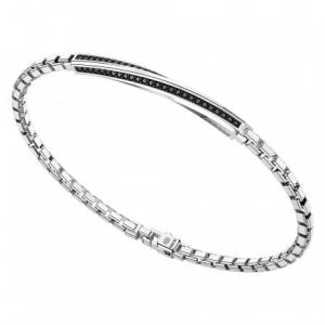 Bracciale Zancan, in argento con spinelli neri.