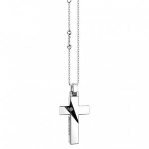 Collana Zancan, in argento con croce e spinello