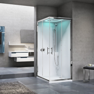 EON A - cabina multifunzione con sauna e cromolight