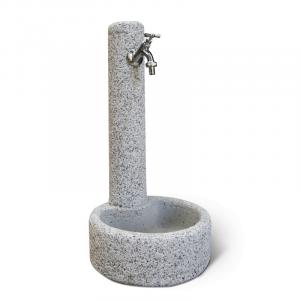 Fontana in Cemento Vercelli con rubinetto e piletta K.A.M