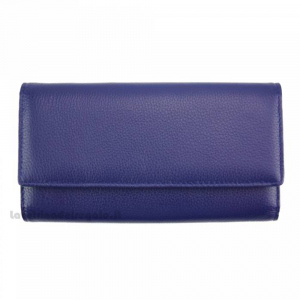 Portafoglio donna Blu in pelle - Dianora M - Pelletteria Fiorentina