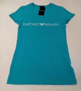 T-shirt turchese donna m/c Emporio Armani