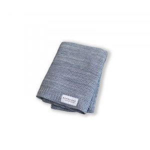 Coperta lavorata a maglia 75x100 cm Bamboom Grey/White Melange