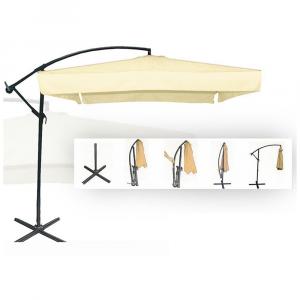 General Trade Ombrello a Braccio Ecru' 2,5x2,5mt