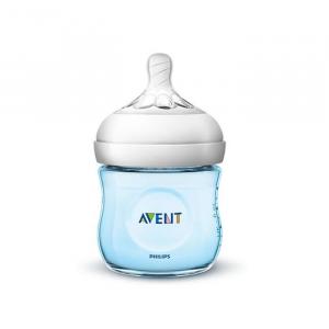 Avent Natural Blue Baby Bottle Scf032 / 17 125ml 0m +