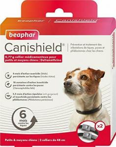 Beaphar Canishield collare antiparassitario S/M cane piccolo/medio 2 collari