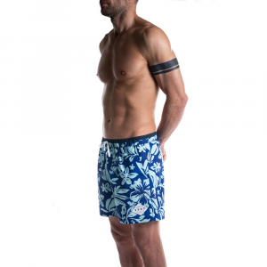 Costume mare uomo Hibiscus Medium in Poliestere Riciclato
