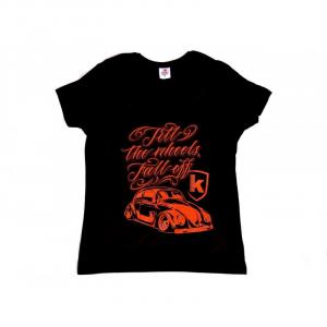 T-Shirt KAFER for woman - Nera e Rossa
