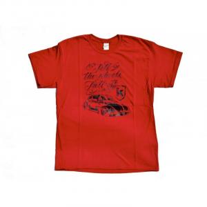 T-Shirt KAFER for man - Rosso scuro e Nero
