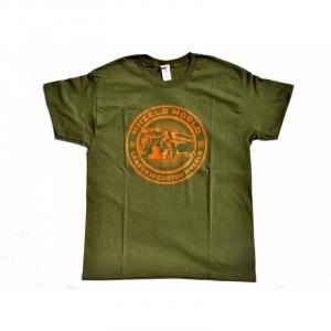 T-Shirt T-ONE for man - Verde Oliva e Arancio