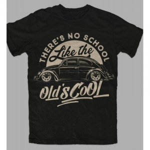 T-Shirt OLD's COOL for man - Nera e Bianca