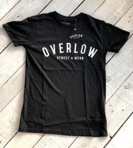 T-Shirt OVERLOW for man - Nera e Bianca