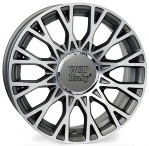 Cerchi in lega WSP Italy  CENTO1FI62  15''  Width 6.0   5x98  ET 39  CB 58,1    Anthracite Polished