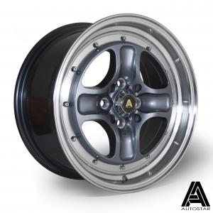 Cerchi in lega  Autostar  Classic  16''  Width 7.5   4x108~4x100  ET 35  CB 67,1    RLGunmetal