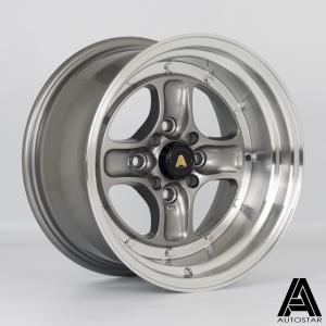 Cerchi in lega  Autostar  Classic  15''  Width 8   4x100/114  ET 0  CB 73,1    RLGunmetal